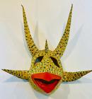 "Vejigante Vintage Folk Art Mask Puerto Rico Signed M.C.G 9"""