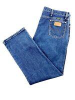 Wrangler Mens Size 42x32 Denim Blue Jeans Western Classic 100% Cotton 936DEN