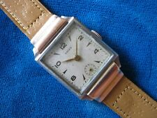 1933 ROLEX 3893 STEEL MEN'S WATCH WITH 18K ROSE GOLD HOODED LUGS  ULTRA PRIMA