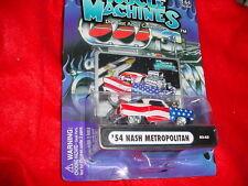 MUSCLE MACHINES '54 NASH METROPOLITAN RED WHITE & BLUE 03-43 MIP FREE USA SHIP