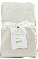 Pottery Barn Set Of Two King Flannel Pillowcases These Are Heather Gray*NIP*NICE