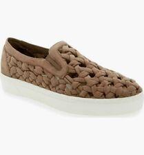 NEW 1.STATE DELPHIN BRAIDED TAUPE ULTRA SUEDE SNEAKERS SIZE 5.5 $98