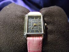 Woman's Sergio Valente Watch with Pink Band **Nice** B61-1114
