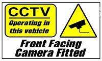 295 X 175 MM Anteriore Facing CCTV Fotocamera Operanti IN This Veicolo Adesivo
