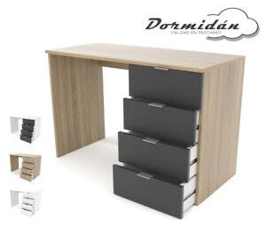 Mesa despacho 4 cajones, ME4C, mesa estudio oficina, varios colores
