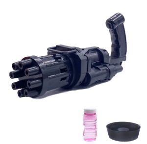Electric Bubble Gun Gatlin Bubble Machine Soap Bubbles For Children Kids Toy