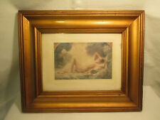 Art Deco Akt Bild im Holzrahmen : Erotika