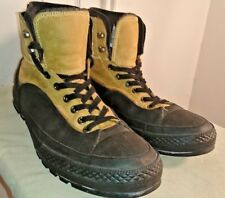Mens CHUCK TAYLOR CONVERSE TEKOA Boots Black Rubber Sole Tan Leather 13