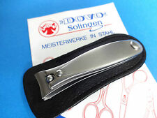"""DOVO 502-006 Stainless 2.5"""" SMALL NAIL CLIPPER w/Leather Pouch SOLINGEN GERMANY"""