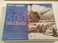 "Aspen Snowmass 500 pcs puzzle. Aspen Mountain Gondola 15"" x 21.25"""