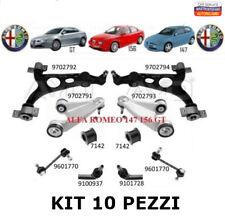 KIT BRACCI SOSPENSIONE OSCILLANTI ANTERIORE 10 PEZZI ALFA ROMEO 147 156 GT