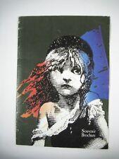 Les Miserable Souvenir Brochure MacIntosh Musical March 31, 1986 Dewynters