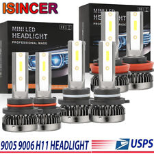 Mini Combo 4965W 744750LM 9006+9005+H11 LED Headlight Kit Hi-Low Beam Bulb 6000K