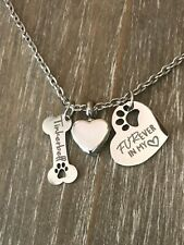 Memorial Pet urn necklace personalized name dog Bone cremation ashes loss gift
