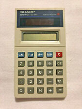 Sharp EL-240 Solar Cell Calculator Elsimate With Box