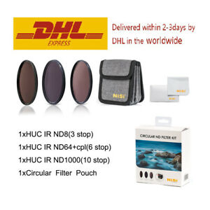 NiSi 77mm Circular ND Filter Kit ( ND8+ND64&CPL+ND1000+Pouch )