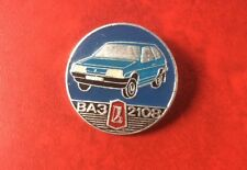 CAR Made In USSR Pin Button Badge RUSSIA VAZ 2108. Soviet Automobile. Rare !