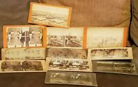 Lot Of 11 Antique Stereoview Cards Assorted Variety of Subjects