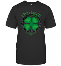Thin Lizzy Clover Irish T-Shirt Size S-5Xl Men Women Unisex Rock Band Music Usa
