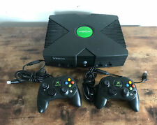 Original Microsoft Xbox Video Game System Console With 2 Controllers
