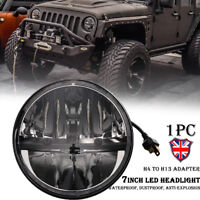 7 inch LED Halo Hi/Lo Beam Headlight Projector For Jeep Wrangler JK CJ  Harley