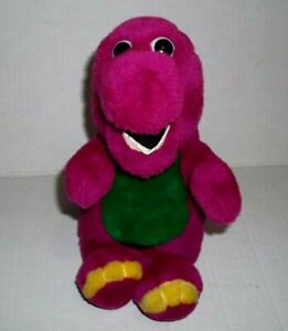 VINTAGE 1990's Stuffed Barney The Purple Dinosaur Soft Plush  9""