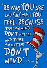 Be Who You Are # 10 - 8 x 10 Tee Shirt Iron On Transfer Dr. Seuss