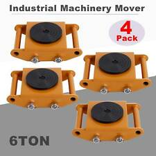 4Pcs Dolly Skate Industrial Machinery Mover Skate Roller w/360°Rotation 6T