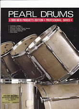 VINTAGE MUSICAL INSTRUMENT CATALOG #10568 - 1989 PEARL DRUMS - PROFESSIONAL