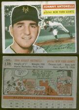 (12025) 1956 Topps 138 Johnny Antonelli Gray Back Giants-GD