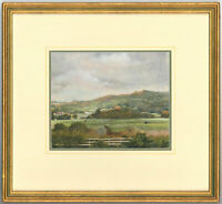 Joy Codd - Contemporary Signed and Framed Watercolour, Cattle in a Landscape