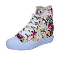scarpe donna CARRERA 40 EU sneakers bianco tessuto BZ740-G