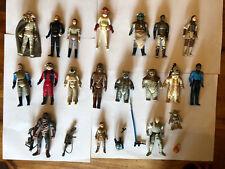 More details for vintage star wars figures job lot with original accessories &some modern figures