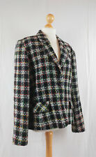 British Vintage 1980s Oversized Wool Blend Tweed Jacket