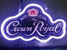 "New Crown Royal 3D Carved Neon Light Sign 14"" Beer Cave Gift Lamp Bar Game Room"