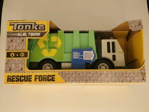 NEW Tonka Rescue Force Garbage Truck Waste Recycle Sanitation Real Tough