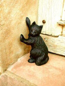 Türstopper schwarze Katze, Skulptur, Türöffner, schwarzer Kater sehr schwer