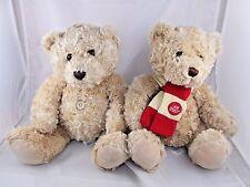 """Animal Adventure Teddy Bear Plush I am Loved Scarf Sit 12"""" w/ Button Belly"""