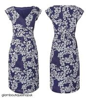 BN LADIES WHITE STUFF BLUE LENA SUMMER FLORAL TEA DRESS TUNIC SIZE 8 ONLY £18.99
