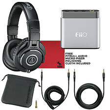 Audio Technica M40X Studio Monitor Headphones & FiiO A1 Portable Headphone Amp