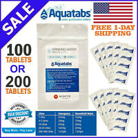 Exp Date 10//2024 AQUATABS GERMICIDAL WATER PURIFICATION TABLETS Safe Water