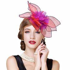 Womens Ladies Dress Fascinator Wedding Kentucky Derby Linen Hat  T228
