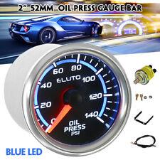 """2"""" 52mm Car Pointer LED Display PSI Oil Pressure Press Gauge Meter & Sensor 12V"""