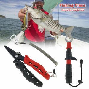 2 Stück Tragbare Angelzange Fisch Greifer Edelstahl Angeln Zangen Werkzeuge Set