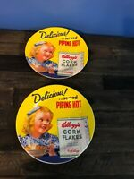 Vintage Kellogs Corn Flakes Plate Lot Of 2 Plates No Chips No Stains