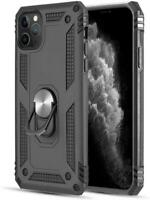 For iPhone 12 Pro Max Case Military Grade Soft TPU Ring Holder Kickstand Cover