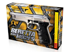 [Gunstorm] Beretta M92FS AirsoftPistol Air Cocking Hand BB 6mm Silver ⭐Tracking⭐