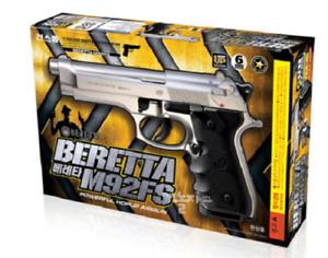 [Gunstorm] Beretta M92FS AirsoftPistol Air Cocking Hand BB ToyGun 6mm Silver