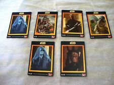 STAR WARS EPISODE 1 KFC COLLECTABLE CARDS  (13 CARDS)