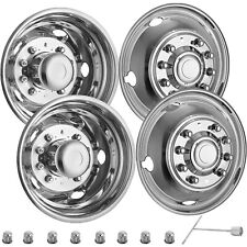 "For FORD F450 F550 19.5"" 05-19 10 LUG Stainless Dually Wheel Simulators BOLT ON"